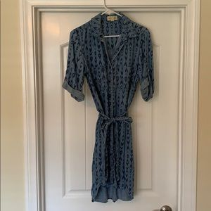 Cloth & Stone Denim Tie Dress